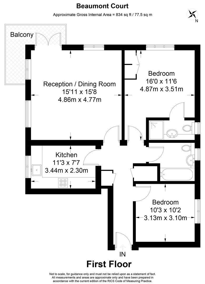 Floorplan for Beaumont Court, Edge Hill, Wimbledon